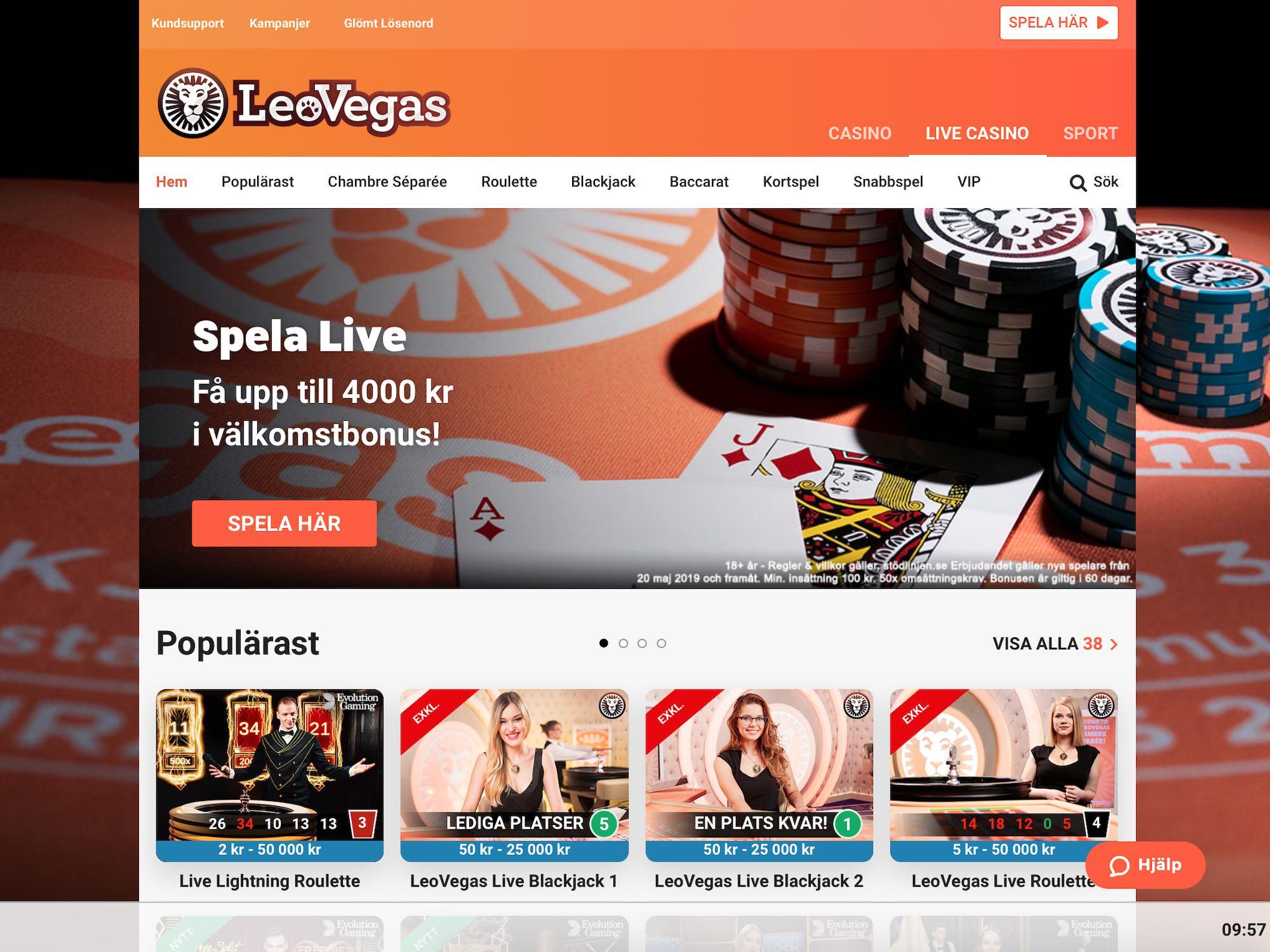 Helgens casino erbjudande 46544