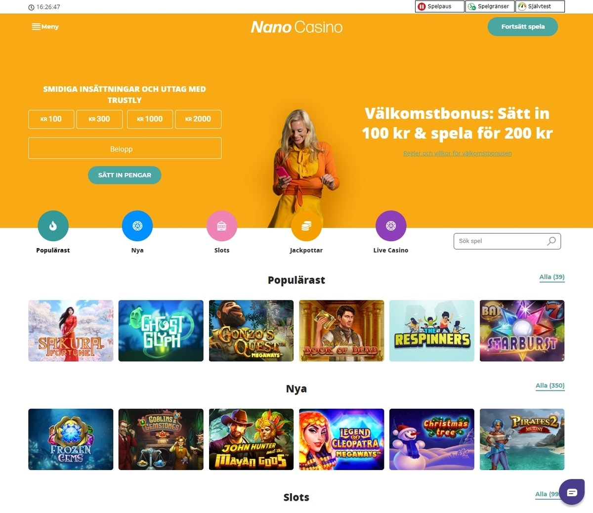 Nordicasino bonuskod Nano casino 54579